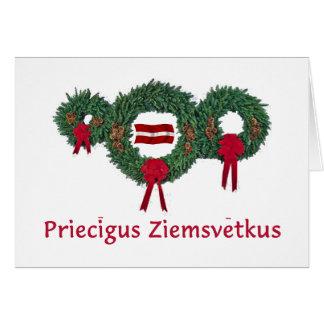 Cartes Noël 2 de la Lettonie