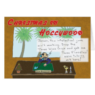 Cartes Noël à Hollywood