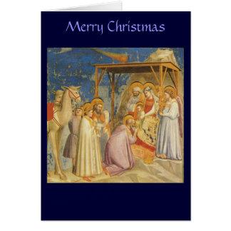 Cartes Noël - adoration des Magi - Giotto