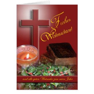 Cartes Noël allemand de Frohes Weihnachten Joyeux