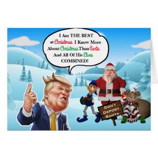 Cartes Noël arrogant drôle d'atout