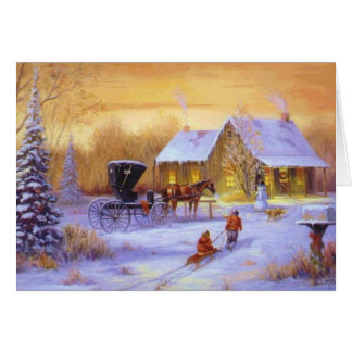 Cartes Noël au cabine