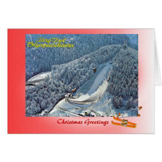 Cartes Noël autrichien, saut à skis olympique d'Innsbruck