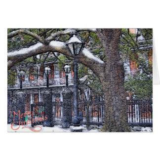 Cartes Noël carré de neige de Jackson