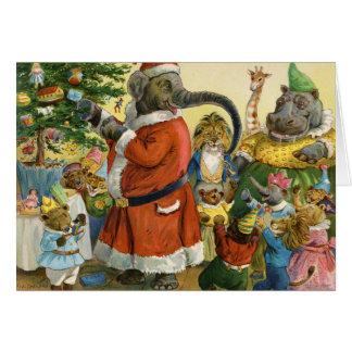 Cartes Noël chez la terre animale