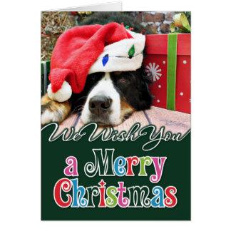 Cartes Noël - chien de montagne de Bernese - Mya