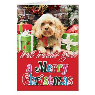 Cartes Noël - Cockapoo - Morgan