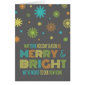 Cartes Noël coloré de flocons de neige nous avons déplacé