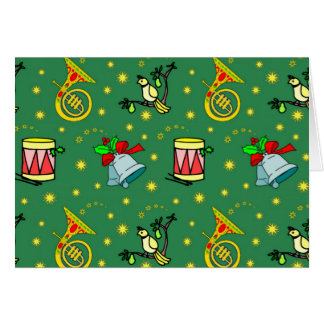 Cartes Noël - cors de harmonie et tambours magenta
