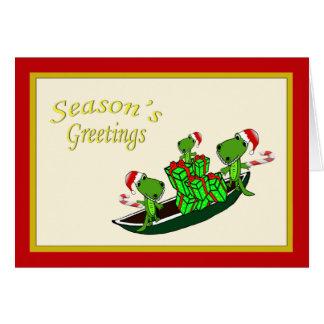 Cartes Noël d'alligators de Père Noël
