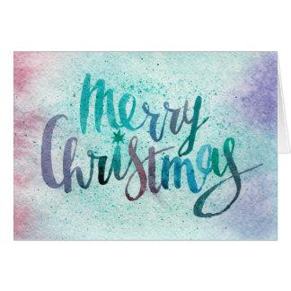 Cartes Noël d'aquarelle