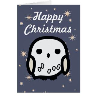 Cartes Noël d'art de personnage de dessin animé de Hedwig