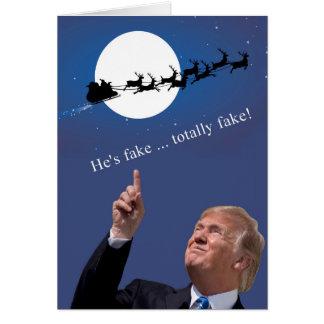 Cartes Noël d'atout : Père Noël est faux