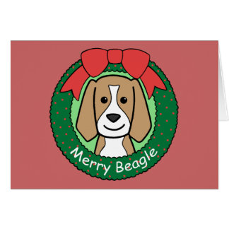 Cartes Noël de beagle