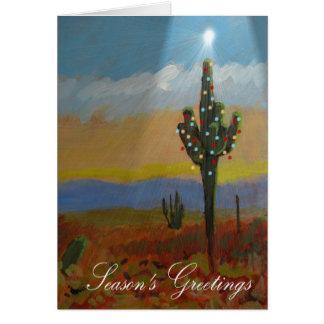 Cartes Noël de cactus