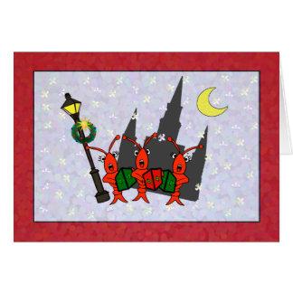 Cartes Noël de cathédrale d'écrevisses/homard de Caroling