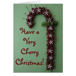 Cartes Noël de cerise