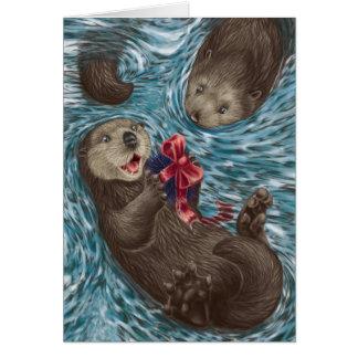 Cartes Noël de côte ouest : Loutres