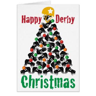 Cartes Noël de Derby de rouleau, patinage de rouleau