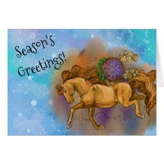 Cartes Noël de Dreamcatcher de cheval d'oseille