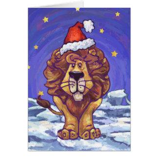 Cartes Noël de lion