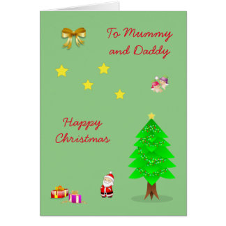 Cartes Noël de maman et de papa