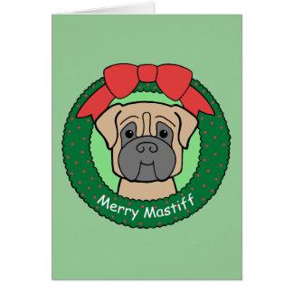 Cartes Noël de mastiff