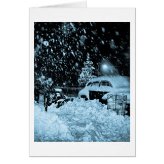 Cartes Noël de Milou dans le cru de New York City