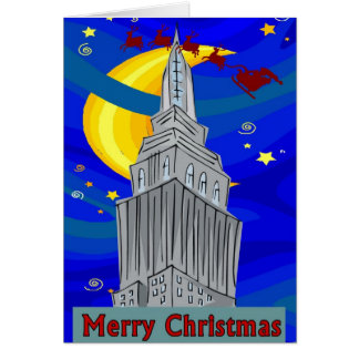 Cartes Noël de New York de nuit étoilée