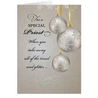 Cartes Noël de prêtre catholique, élégant