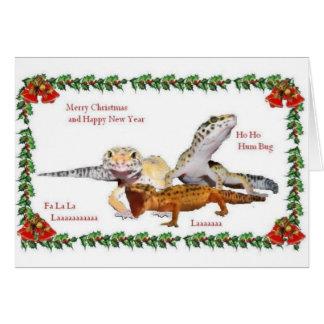 Cartes Noël de reptile