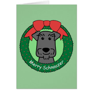 Cartes Noël de Schnauzer miniature