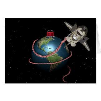 Cartes Noël de STS Père Noël de navette spatiale
