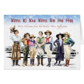 Cartes Noël de suffragette de cheval de Buckin de