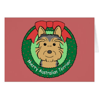 Cartes Noël de Terrier australien