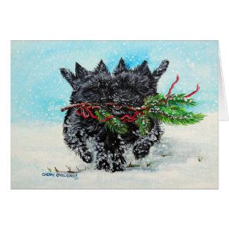 Cartes Noël de Terrier de cairn