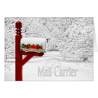 Cartes Noël de transporteur de courrier/travailleur