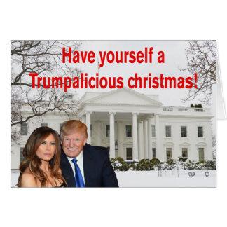 Cartes Noël de Trumpalicious de Donald et de Melania