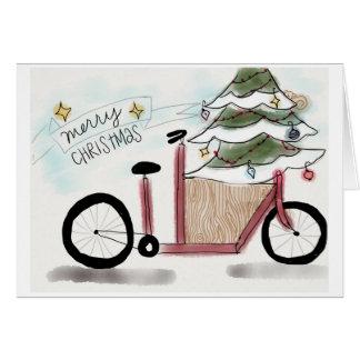 Cartes Noël de vélo de cargaison