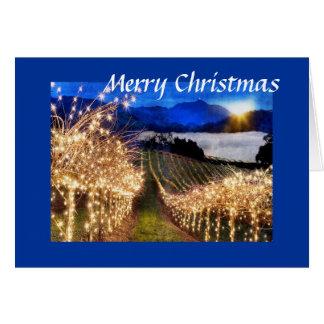 Cartes Noël de vignoble