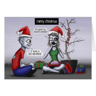 Cartes Noël de zombi