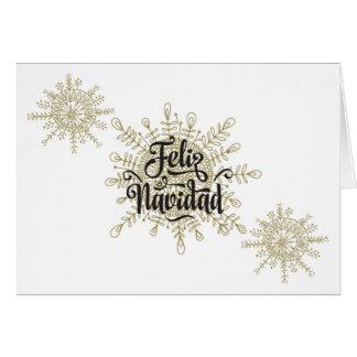 Cartes Noël d'Espagnol de Feliz Navidad