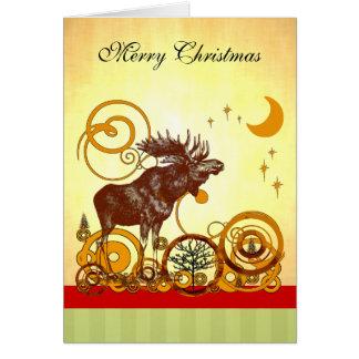 Cartes Noël d'orignaux