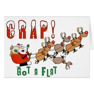Cartes Noël drôle de Père Noël