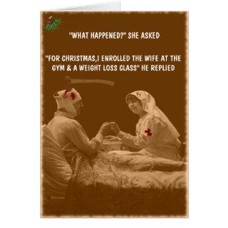 Cartes Noël drôle d'épouse