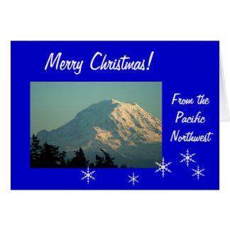 Cartes Noël du mont Rainier : Allez le disent !