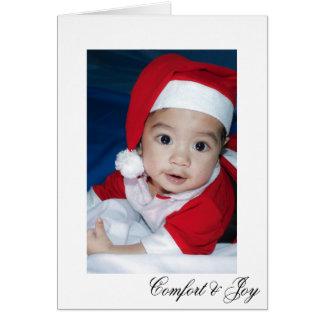 Cartes Noël élégant simple de confort et de joie