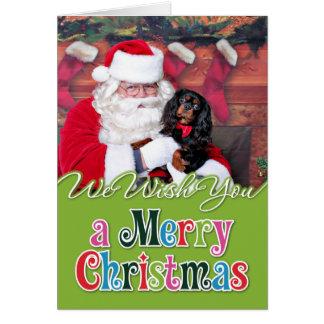 Cartes Noël - épagneul cavalier du Roi Charles - Spence