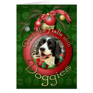 Cartes Noël - épagneul de springer anglais - Betsy