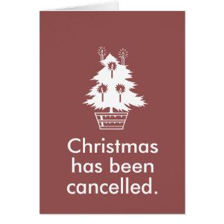 Cartes Noël est décommandé